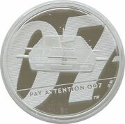 2020 James Bond Pay Attention 007 £5 Five Pound Silver Proof 2oz Coin Box Coa