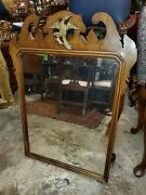 Beautiful Vintage Chippendale Mahogany Mirror With Carved Eagle