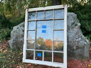Vintage Rare Antique Queen Ann Style 15 Panes Window Sash 29 X 37-1/2 From 1840