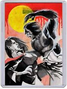 Sci-fi And Horror Movie Posters Rod Pereira Sketch Card Werewolf Vs Vampire Woman