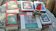7 Frosty Friends Xmas Ornaments 6/box 1990.94.95,97 Loose,2000,2000 Pewter,2004