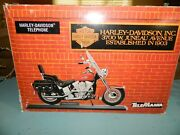 Telemania Harley Davidson Motorcycle Touch Tone Telephone Rare Red Nos
