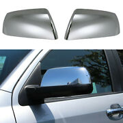 For 2007-2021 Toyota Tundra Sequoia Top Upper Chrome Side Mirror Covers Overlay