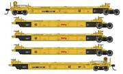 Walthers Ho Scale Thrall 5-unit Rebuilt 40' Well Car Ttx/dttx/red Logo 748198