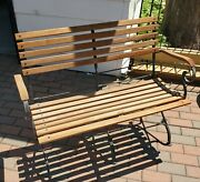 Smith And Hawken Folding Outdoor Bench Teak Wood Work