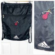Miami Heat Drawstring Lightweight Backpack Embroidered Nba Bag