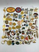 Huge Pin Lot Of 100+ Patches, Buttons, Badges And Pinbacks