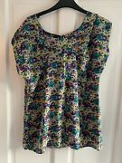 Whistles Multi Coloured Flowered Top