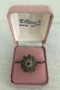 Vintage 14k Gold Sapphire Cocktail Ring In Box From 's Xenia Ohio Sz 6.25