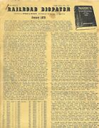 January 1979 Railroad Dispatch Newsletter Railroad Antiques And Artifacts
