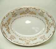 Vtg Classique Gold 3672 By Harmony House China Japan Oval Serving Vegetable Bowl