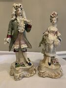 Vintage Cordey By Cybis, Porcelain Victorian Man 5041 And Lady 5080 Figurines