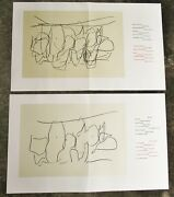 Robert Motherwell - Two 2 Original Lithographs - 1987 - Free Ship In Us