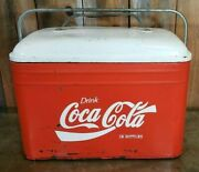 Vintage 1940s Coca Cola All Metal Cooler / Extremely Clean Interior