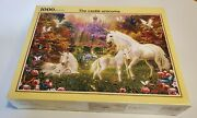 Jigsaw Puzzles 1000 Pieces Art Painting The Castle Of White Unicorns In Dream