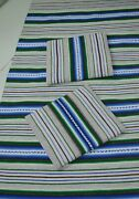 Set Of Woven Wool Blanket And 2 Pillow Covers