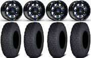 Fuel Lethal Blue 15 Wheels 35 Coyote Tires Polaris Rzr Turbo S / Rs1
