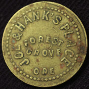 Vintage Joe And Hank's Place Forest Grove Ore Good For 5¢ In Trade Token Tc-1756