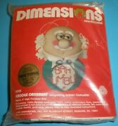 Dimensions Needlepoint Kit Scrooge Christmas Ornament Bah Humbug Puffie