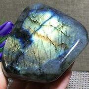 608g Natural-labradorite-crystal-rough-polished-point-from-madagascar A1807