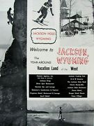 Jackson Hole Wyoming Vacation Land Of The West Original Print Picture 8.5 X 11