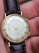 Vintage Lecoultre Memovox Alarm Mens Watch In 14k Solid Gold