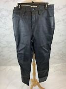 Madewell Womenand039s 11 High-rise Skinny Jeans Leather Edition Size 31 398