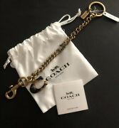 Coach Horse And Carriage Chain Keychain Nwt 125