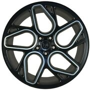 4 G45 20x10 Inch Black Rims Fits Nissan Rogue Select S 2014 - 2015