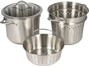 Calphalon Contemporary Stainless Steel Multi Pot Steamer And Lid Used