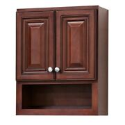 New Home Solid Wood Grand Reserve Cherry Bathroom Wall Storage Medicine Cabinet