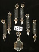 Crystal Chandelier Part 6 Pcs 3.5 In Cut Spear And 1 40mm Cut Ball