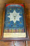 Rare Antique 1930s Lucky Star Wood Pinball Machine