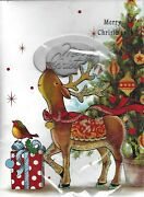 2 X Musical Christmas Cards 3d Plays Xmas Jingles When Open Red Led 20cmx14cm
