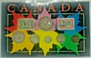 Canadian 1939 Canada Year Coin And Stamp Set In Cardboard Display Rare