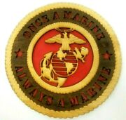 Us Marine Corps Laser Cut 3d Wood Wall Tribute Plaque Always A Marine 11
