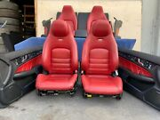 ✔mercedes W204 C63 Coupe Complete Amg Seat Seats Cushion Door Panel Set Oem