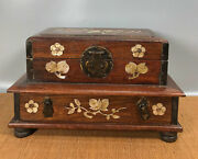 10.6'' Chinese Antique Wood Box Natural Old Rosewood Box Jewelry Box Shell