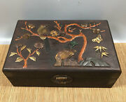 10'' Chinese Antique Wood Box Natural Old Rosewood Box Jewelry Box Shell