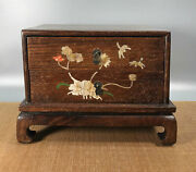 13'' Chinese Antique Wood Box Natural Old Rosewood Box Jewelry Box Shell