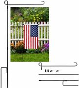 Garden Flag Stand For Yard Flag Party Banner Metal Powder-coated Easy To Install