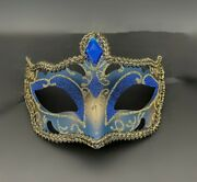 New Blue Musical Masquerade Eye Mask Men Boys Halloween Costume New Year Party