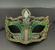 New Green Musical Masquerade Eye Mask Men Boys Halloween Costume New Year Party