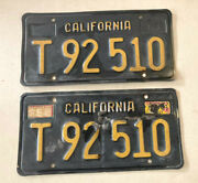 1963 Paired Truck Commercial California License Plates