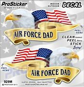 Prosticker 929m One Pair American Flag Air Force Dad Decals Stickers