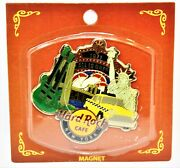 X1 Hard Rock Cafe Refrigerator Magnet New York 1971 Taxi Cab Statue Of Liberty