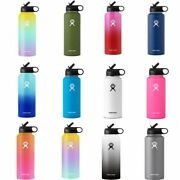 Water Flask Insulated Thermos Stainless Steel Straw Wide Mouth Vacuum Bottles