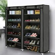 Blissun Shoe Rack Shoe Storage Organizer Cabinet Tower With Non-woven Fabric Cov