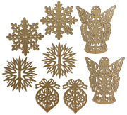 Anna Griffin Christmas 3d Ornament Dies Bnip + Damask Magnetic Sheet - Sold Out
