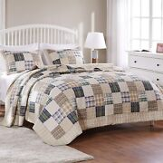 Greenland Home 3-piece Oxford Quilt Set Full/queen Multicolor